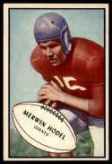 1953 Bowman #70 Merwin Hodel EX/NM SP