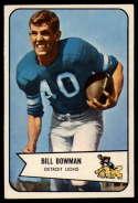 1954 Bowman #17 Bill Bowman VG Very Good