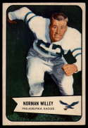 1954 Bowman #21 Norm Willey VG/EX Very Good/Excellent