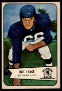 1954 Bowman #62 Bill Lange EX Excellent