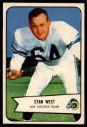 1954 Bowman #103 Stan West EX/NM