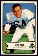 1954 Bowman #103 Stan West EX/NM