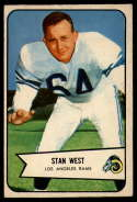 1954 Bowman #103 Stan West EX Excellent