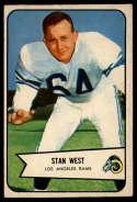 1954 Bowman #103 Stan West EX Excellent