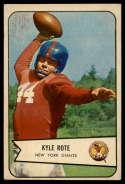 1954 Bowman #7 Kyle Rote EX Excellent