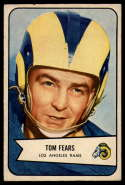 1954 Bowman #20 Tom Fears VG/EX Very Good/Excellent