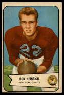 1954 Bowman #92 Don Heinrich EX Excellent RC Rookie SP