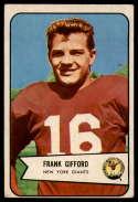 1954 Bowman #55 Frank Gifford hole