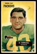1955 Bowman #102 Al Carmichael mark