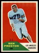 1960 Fleer #8 Ben Preston NM Near Mint