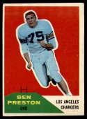 1960 Fleer #8 Ben Preston EX Excellent