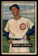 1951 Bowman #248 Johnny Klippstein G Good RC Rookie
