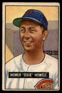 1951 Bowman #252 Homer Howell VG Very Good RC Rookie