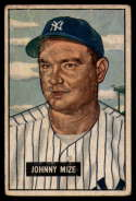 1951 Bowman #50 Johnny Mize G/VG Good/Very Good