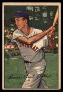 1952 Bowman #6 Virgil Stallcup VG Very Good