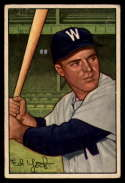 1952 Bowman #31 Eddie Yost VG/EX Very Good/Excellent