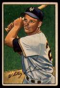 1952 Bowman #38 Whitey Lockman VG/EX Very Good/Excellent