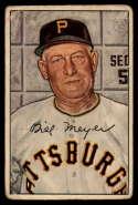 1952 Bowman #155 Billy Meyer MG G Good