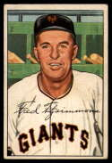 1952 Bowman #234 Freddie Fitzsimmons CO VG/EX Very Good/Excellent