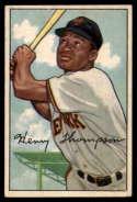 1952 Bowman #249 Hank Thompson VG/EX Very Good/Excellent
