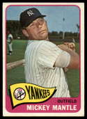 1965 Topps #350 Mickey Mantle EX Excellent