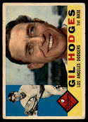 1960 Topps #295 Gil Hodges VG Very Good