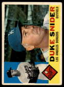 1960 Topps #493 Duke Snider VG Very Good