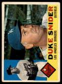 1960 Topps #493 Duke Snider VG Very Good