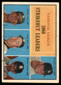 1961 Topps #49 Drysdale/Koufax/Jones,/Broglio NL Strikeout Leaders EX Excellent