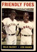 1964 Topps #41 Willie McCovey/Leon Wagner Friendly Foes VG Very Good