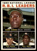 1964 Topps #11 Hank Aaron/Ken Boyer/Bill White NL R.B.I. Leaders EX/NM