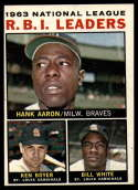 1964 Topps #11 Hank Aaron/Ken Boyer/Bill White NL R.B.I. Leaders EX Excellent