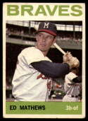1964 Topps #35 Eddie Mathews VG/EX Very Good/Excellent