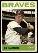 1964 Topps #35 Eddie Mathews VG Very Good