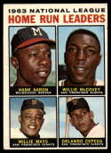 1964 Topps #9 Hank Aaron/McCovey/Willie Mays/Cepeda NL Home Run Leaders EX Excellent