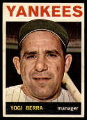 1964 Topps #21 Yogi Berra MG VG Very Good