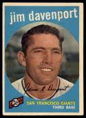 1959 Topps #198 Jim Davenport VG/EX Very Good/Excellent