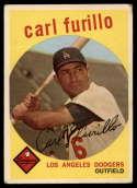 1959 Topps #206 Carl Furillo VG Very Good white back