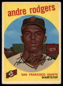 1959 Topps #216 Andre Rodgers VG Very Good white back
