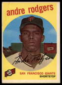1959 Topps #216 Andre Rodgers EX Excellent white back