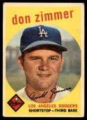 1959 Topps #287 Don Zimmer VG Very Good