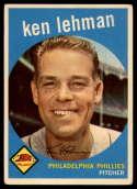 1959 Topps #31 Ken Lehman UER VG Very Good
