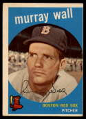1959 Topps #42 Murray Wall VG/EX Very Good/Excellent