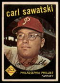 1959 Topps #56 Carl Sawatski VG/EX Very Good/Excellent