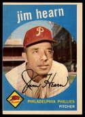 1959 Topps #63 Jim Hearn UER NRMT o-c