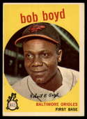 1959 Topps #82 Bob Boyd UER VG/EX Very Good/Excellent