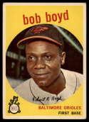 1959 Topps #82 Bob Boyd UER VG Very Good