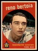 1959 Topps #84 Reno Bertoia VG/EX Very Good/Excellent