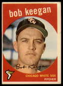 1959 Topps #86 Bob Keegan UER G/VG Good/Very Good