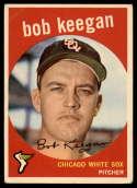 1959 Topps #86 Bob Keegan UER VG Very Good